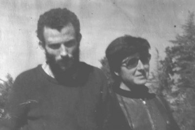 Kiko Argüello and Carmen Hernández at the beginning of the Neocatechumenal Way in Rome.