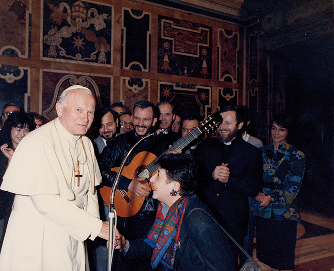 St. John Paul II Private audience for the communities of Spain and Ivrea