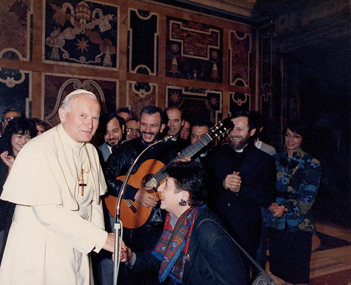 Sv. Ivan Pavao II. pohodi župi Sv. Felice 1986