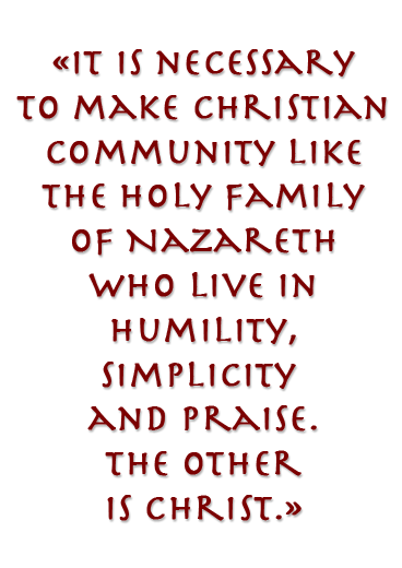 Neocatechumenal way it is necessary to make Cristian community